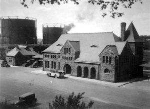 Michigan Central train station, c 1925, (Ann Arbor, Michigan photograph collection), courtesy, Bentley Historical Library, University of Michigan.